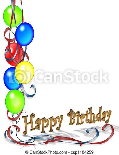 születésnap, léggömb - csp1184259