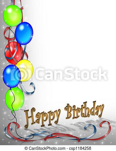 születésnap, meghívás - csp1184258