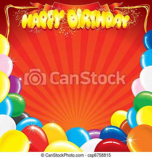 születésnap, sablon - csp6758815