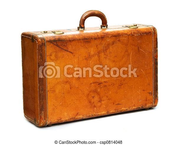 szüret, fehér, bőrönd - csp0814048