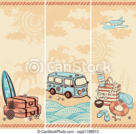 szüret, utazás, szalagcímek, nyár - csp21188913