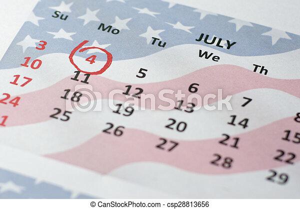 szabadság nap, negyedik, július, - - csp28813656