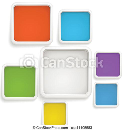 szablon, kolor, tekst, abstrakcyjny, boxes., tło - csp11105583