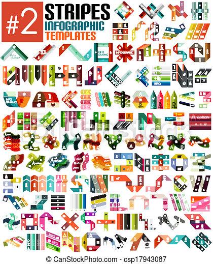 szablony, ogromny, komplet, infographic, pas, #2 - csp17943087