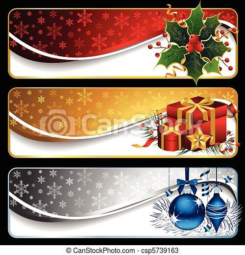 szalagcímek, karácsony - csp5739163
