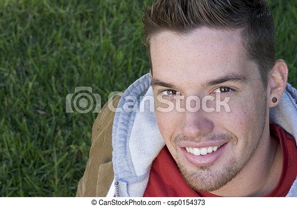 szczęśliwy, człowiek - csp0154373
