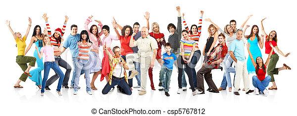 szczęśliwy, ludzie - csp5767812