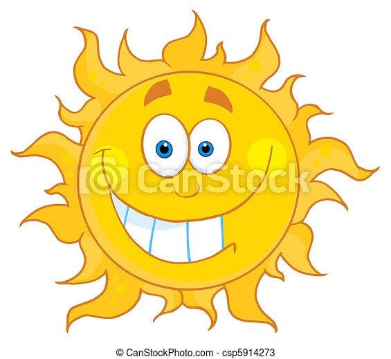 szczerzenie zębów, słońce - csp5914273