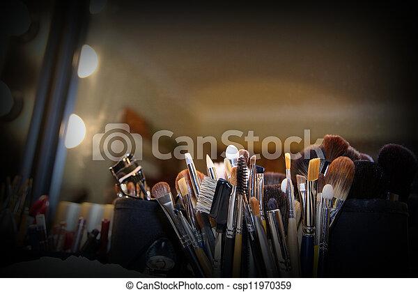 szczotki, makijaż - csp11970359