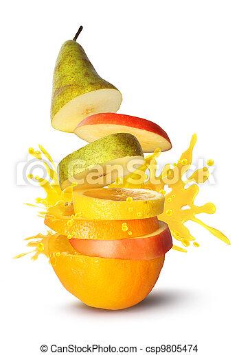 szelet, lé, gyümölcs, kitörés - csp9805474