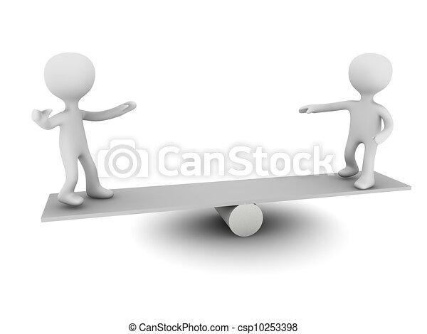 személy, egyensúly, 3 - csp10253398