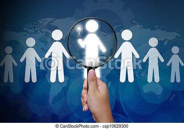 személy, helyes, csoport, eldöntés - csp10629300