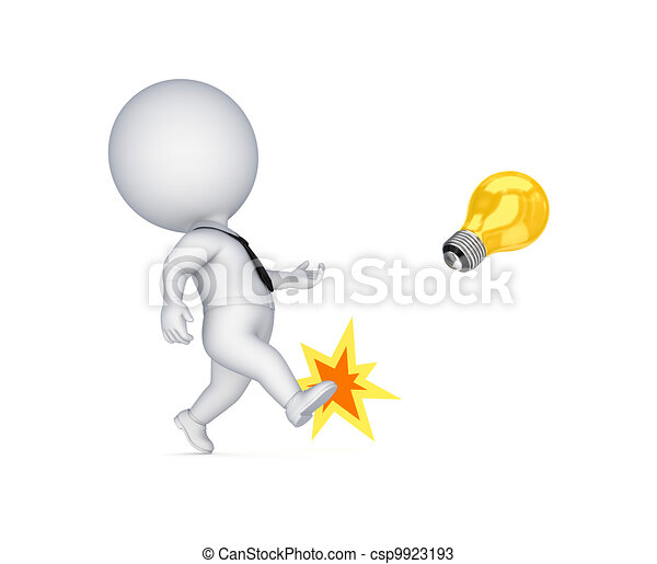 személy, lamp., sárga, rúgás, kicsi, 3 - csp9923193