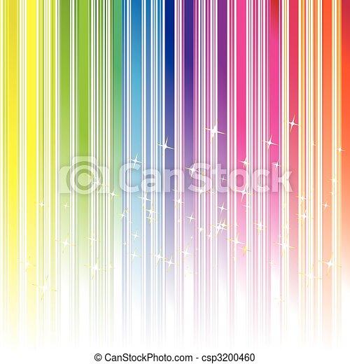 szivárvány, csillaggal díszít, szín, elvont, vonal, háttér - csp3200460