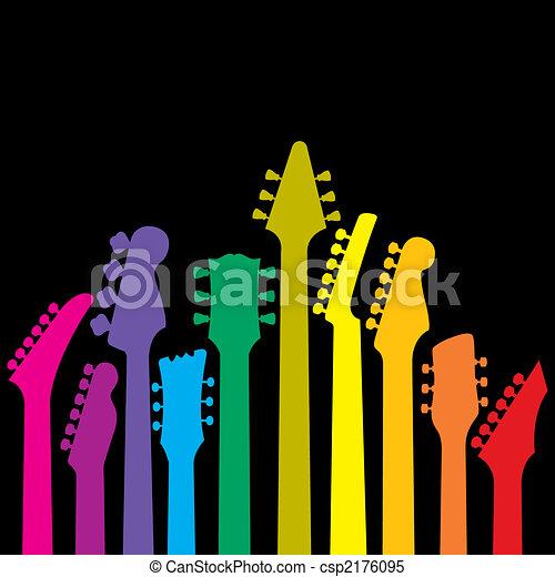 szivárvány, gitárok - csp2176095