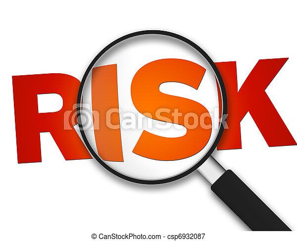 szkło, -, powiększający, ryzyko - csp6932087