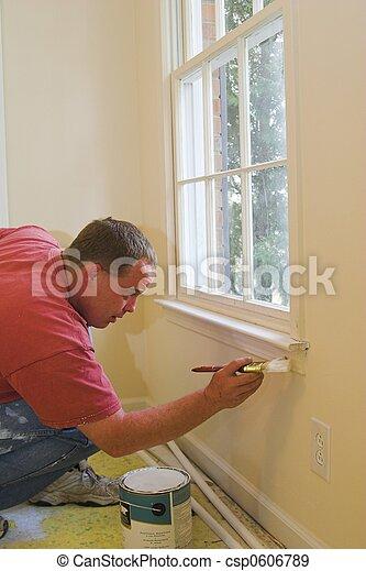 szobafestő, dolgozó - csp0606789