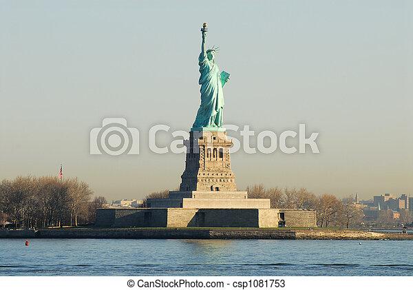 szobor, new york, szabadság, usa - csp1081753