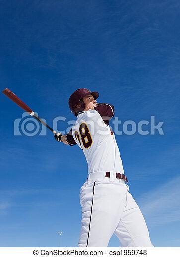 szokás, baseball - csp1959748
