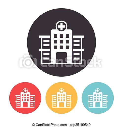 szpital, ikona - csp35199549