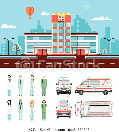 szpital, ulica - csp34562895