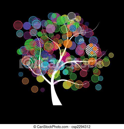 sztuka, drzewo, kaprys - csp2294312