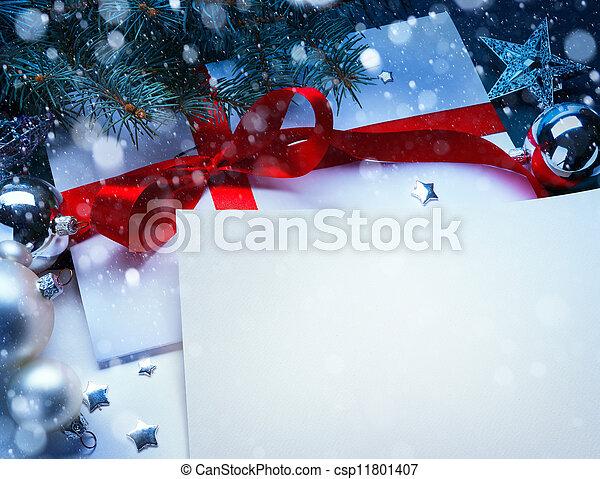 sztuka, kartka na boże narodzenie, powitanie - csp11801407