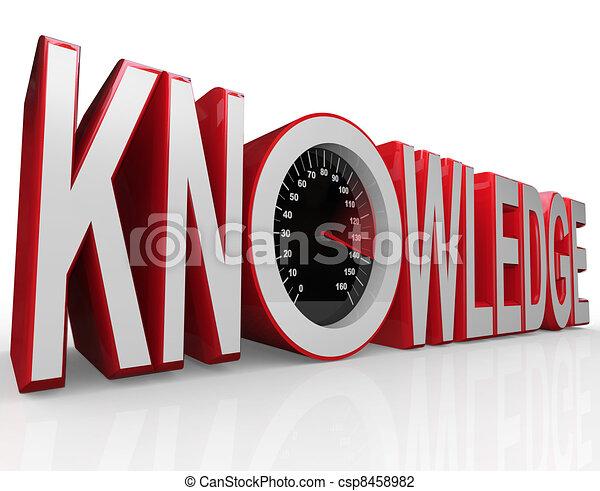 szybkościomierz, nauka, słowo, wiedza, moc - csp8458982