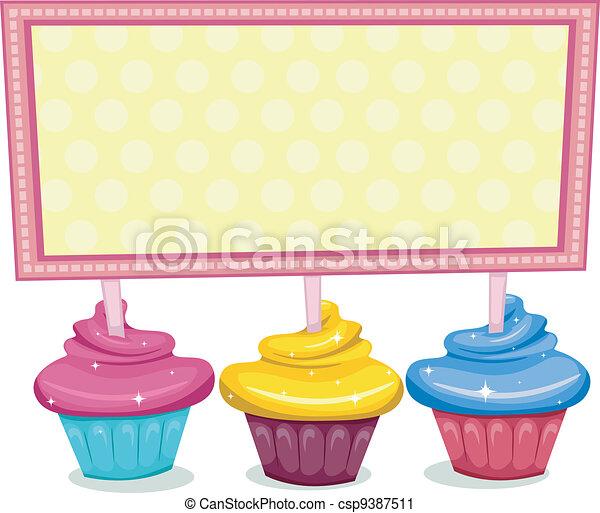 tábua, cupcake - csp9387511