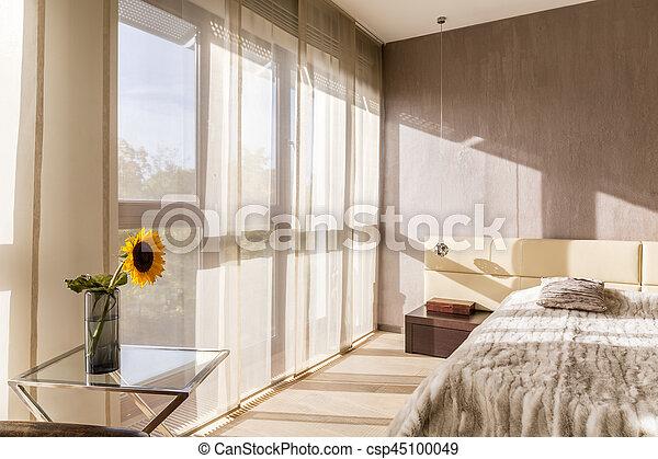 tágas, kényelmes, hálószoba - csp45100049