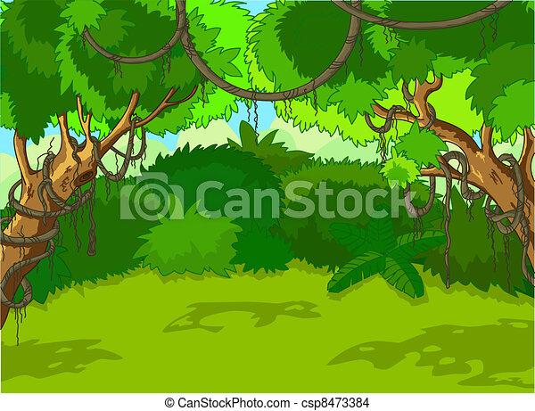 táj, erdő, tropikus - csp8473384