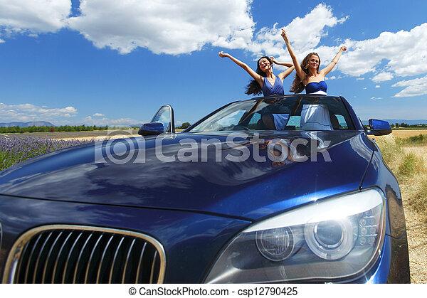 táncol, autó, nők - csp12790425