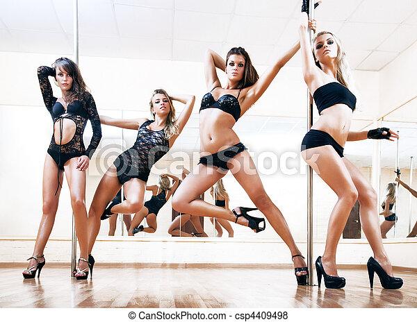 táncol, fiatal, négy, lengyel, szexi, nők - csp4409498