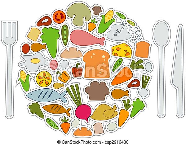 táplálék icons - csp2916430