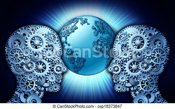 társas viszony, technológia - csp18373847