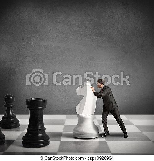 táticas, estratégia negócio - csp10928934