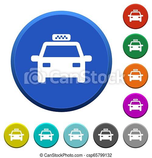 táxi, chanfrado, botões - csp65799132