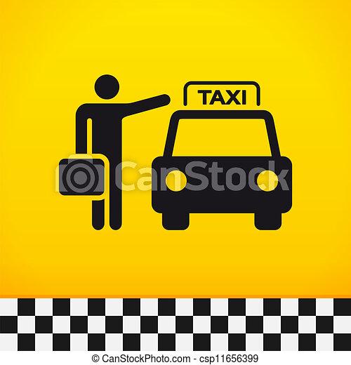 táxi, passageiro, tema - csp11656399