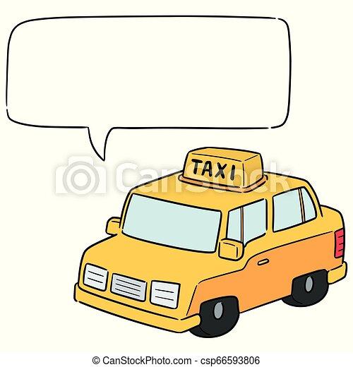 táxi, vetorial - csp66593806