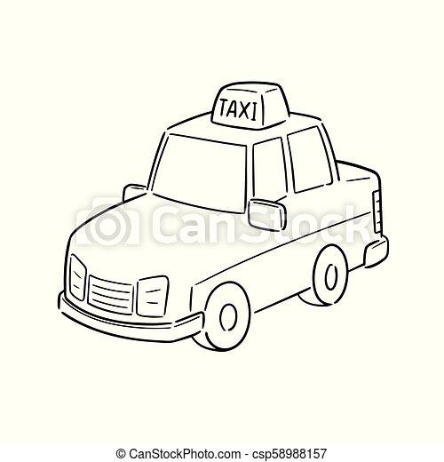 táxi, vetorial - csp58988157
