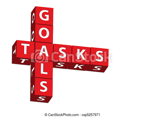 tâches, buts - csp5257971