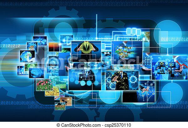 tã©lã©viseur, business, conc, production, .technology, internet - csp25370110