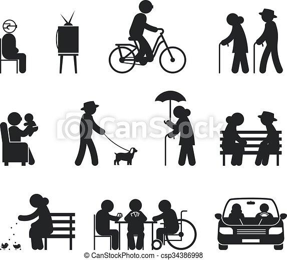 tätigkeiten, senioren, freizeit - csp34386998