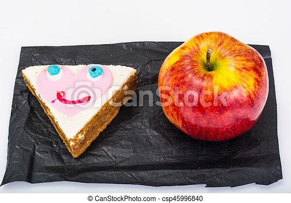 Tårta äpple Sandwich Barn Sandwich Foto äpple Studio Tårta