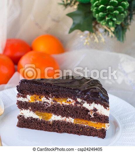 tårta med mandariner