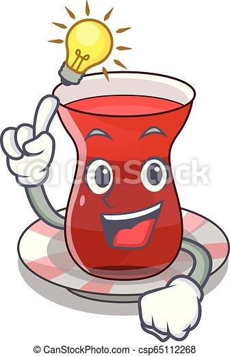 Tengo una idea del té turco en la mascota - csp65112268
