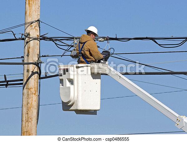 técnico, 1technician, 2, trabajando - csp0486555