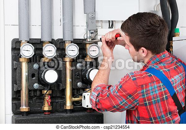 Técnica servicial caldera de calefacción - csp21234554