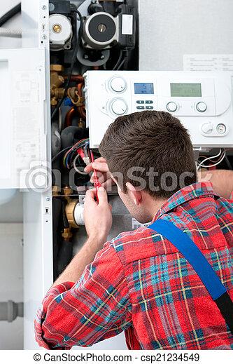 Técnica servicial caldera de calefacción - csp21234549