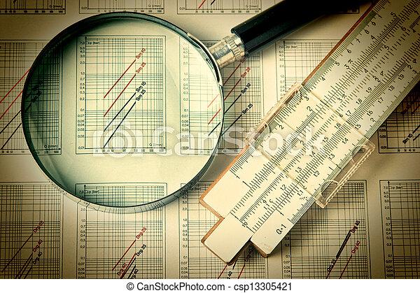 técnico, ingeniería, herramientas, dibujo - csp13305421